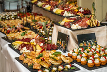 Catering Buffet Table With Col...