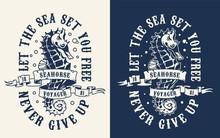 Vintage Monochrome Marine Print