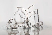 Silver Still Life With Glass B...
