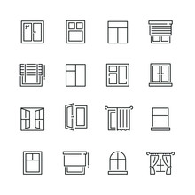 Window Related Icons: Thin Vec...