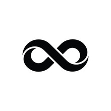 Infinity Outline Icon. Linear Style Sign For Mobile Concept And Web Design. Touching Finger Simple Line Vector Icon. Symbol  Logo Illustration. Pixel Perfect Vector Graphics