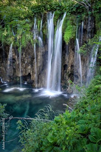 Laghi di Plitvice, croazia, acqua cascate, bosco,  Wall mural