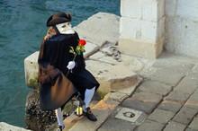Vor Dem Gefängnis In Venedig .