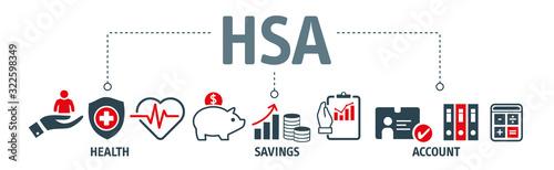 Fototapeta HSA Health Savings Account Vector Illustration obraz