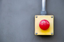Red Reset Button On The Wall. ...