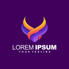 Awesome Horn Gradient Logo Des...
