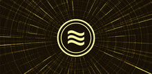 Gold Libra Cryptocurrency Symb...