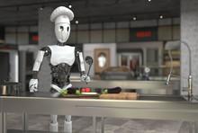 A Humanoid Robot Chef Cooks Di...