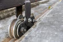Dirty Rusty Steel Roller Wheel...