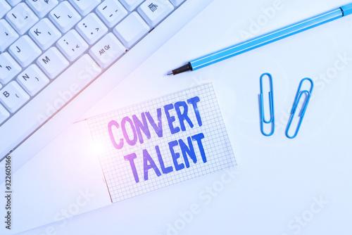 Conceptual hand writing showing Convert Talent Canvas Print