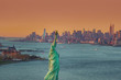 Statue of Liberty with New York City in Back