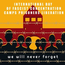 Vector Illustration. International Day Of Fascist Concentration Camps Prisoners Liberation Poster