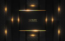 Luxury Black Paper Shapes Back...