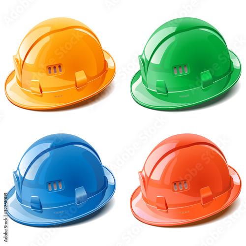 Fototapeta Vector Construction Helmet Kit obraz