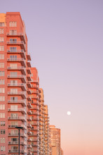 Condo Building With Pastel Sunset