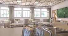 Interior Of A Classic School C...