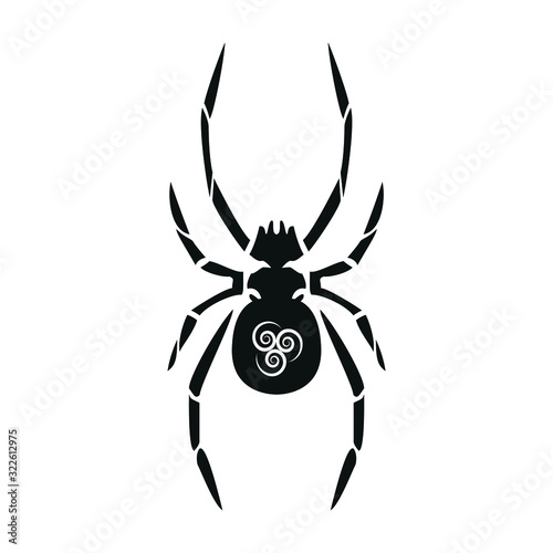 Spider with white symbol on the back Wallpaper Mural