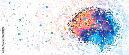 Abstract human brain Wallpaper Mural