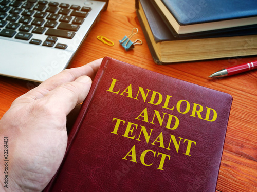 Landlord and tenant act law about property rent. Canvas Print