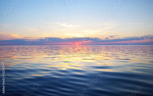 Fotografía Colorful sunset sky above the Baltic sea, Latvia
