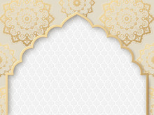 Vector Ornate Frame With India...