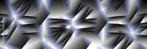 Digital art, high resolution panoramic abstract 3D objects, Germany - 322619716