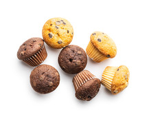 Sweet Muffins. Cupcakes With C...