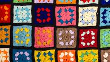 Patchwork Multicolor Wool Blan...