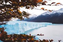 Majestic Mountain With Glacier...