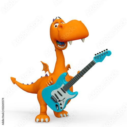 smok-kreskowka-gra-na-gitarze