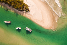 Aerial View Of Boats In The Ba...
