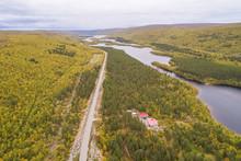Aerial View Of Road Crossing N...
