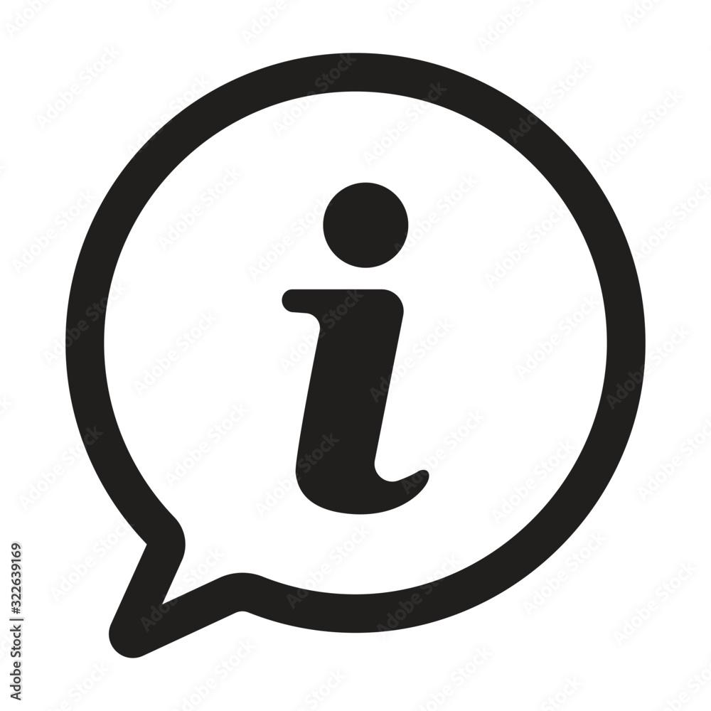 Fototapeta information sign icon, information icon in trendy flat design