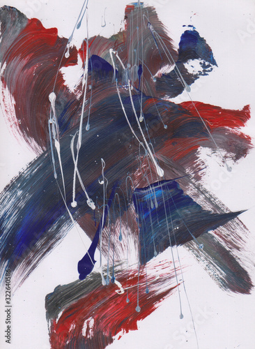 Fototapety, obrazy: Title my artwork is `fighting`. The medium painting acrylic on paper with abstract style, impressionism.