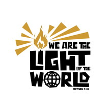 Christian Typography, Lettering And Illustration. We Are Tle Light Of The World.
