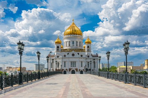 Cathedral of Christ the Saviour in Moscow, Russia Canvas Print