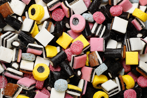 English liquorice candy Wallpaper Mural