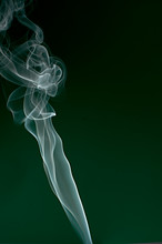 Smoke Against Green Background