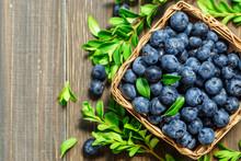 Fresh Blueberries Background W...