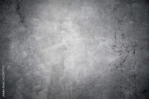 Fototapeta Dark gray concrete texture with vignette as a background obraz