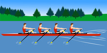 Rowing Boat Team Training Befo...