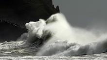 Crashing Waves And Rocks
