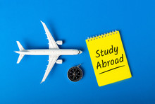 STUDY ABROAD - Message On Blue...