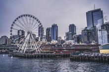 Seattle City Skyline Near Water