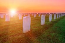 Cemetery Graveyard White Tombs...