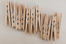 Group Of Wooden Peg To Hang Th...