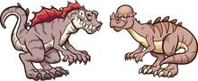 Pachycephalosaurus  And Acroca...