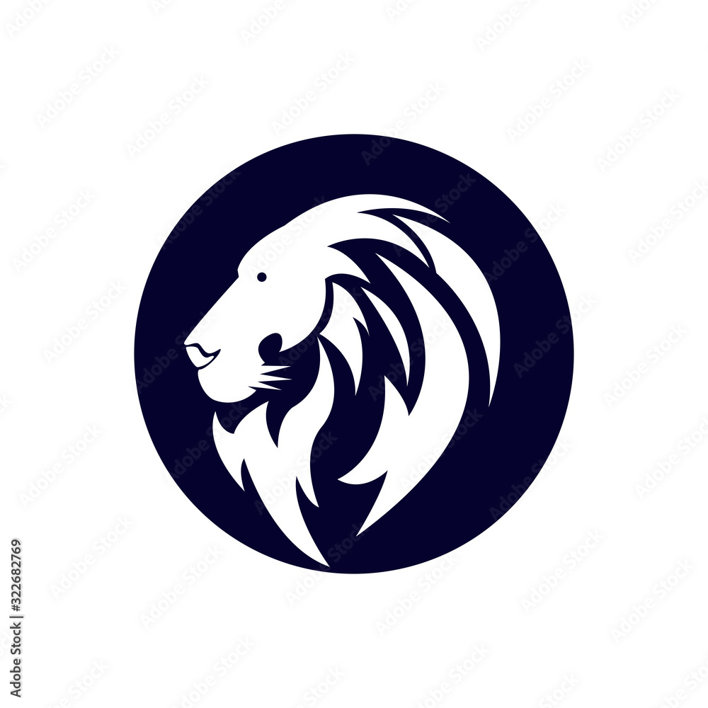 Lion head logo icon