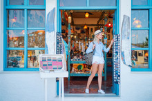 Travel And Shopping. Young Tra...