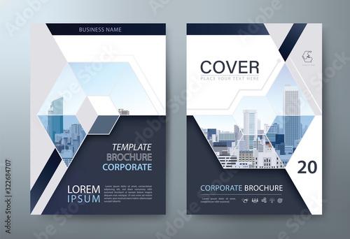 Fototapeta Annual report brochure flyer design, Leaflet presentation, book cover templates, layout in A4 size. vector. obraz